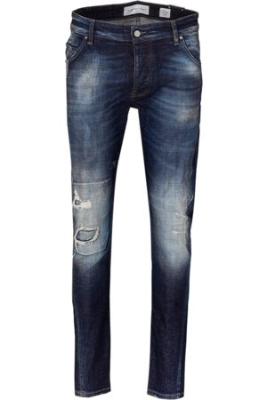 YOUNG POETS SOCIETY Herren Tapered - Jeans Billy the kid 99214 repaired (mid blue)