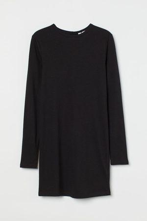 H&M Damen Freizeitkleider - Figurnahes Jerseykleid
