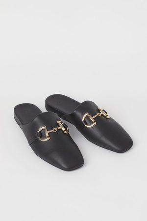 H&M Damen Clogs & Pantoletten - Mules mit Ziertrense
