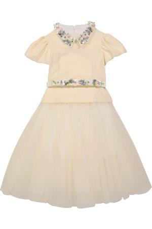 MONNALISA Kleid aus Tüll mit Samt
