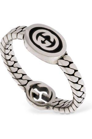"Gucci Emaille-ring ""interlocking G"""