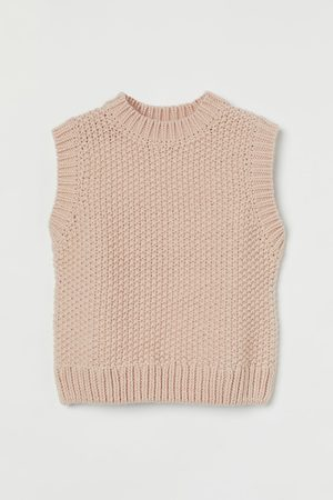 H&M Damen Shirts - Gestrickter Pullunder