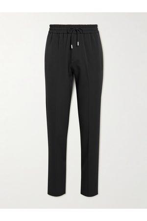 Mr P. Herren Jogginghosen - Straight-Leg Piped Virgin-Wool Drawstring Trousers