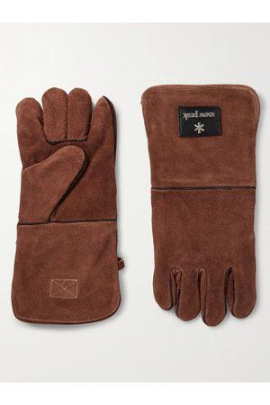 Snow Peak Herren Handschuhe - Fire Side Logo-Appliquéd Suede Gloves