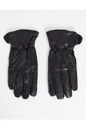 Boardmans – Lederhandschuhe in mit Patchwork-Details