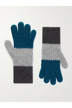 Loro Piana Herren Handschuhe - Striped Cashmere Gloves