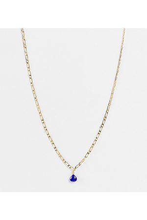 Orelia – Vergoldete Figaro-Halskette mit Y-Lapisanhänger-Goldfarben