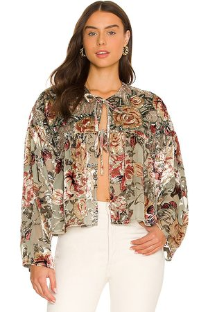 Free People Elsa Embellished Bed Jacket in . Size M, S, XL, XS.