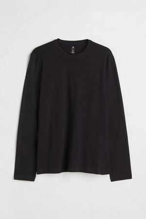 H&M Herren Longsleeves - Jerseyshirt Slim Fit