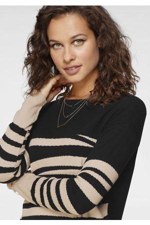 Laura Scott Damen Pullover - Longpullover, mit Animal-Design