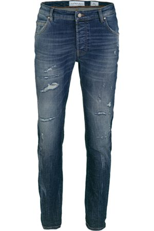 YOUNG POETS SOCIETY Herren Tapered - Jeans Billy the kid 9994 repaired (dark blue)