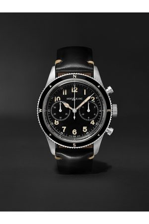 Montblanc 1858 Limited Edition Automatic Chronograph 42mm Stainless Steel and Leather Watch, Ref. No. 126915