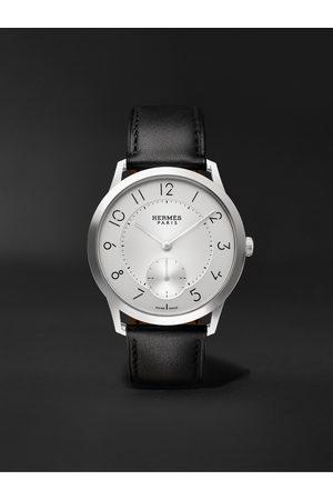 Hermès Timepieces Herren Uhren - Slim d'Hermès Acier Automatic 39.5mm Stainless Steel and Leather Watch, Ref. No. 052839WW00